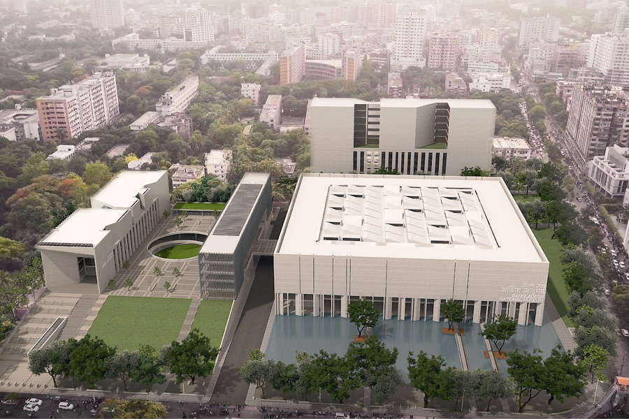 Proposed Coordinated Complex of Public Libraries  and National Museum at Shahbag © DCON CUBE JV