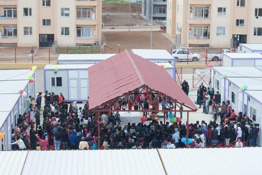 At the opening of the School at War City, Duhok, Iraq. © Nadia Khalid