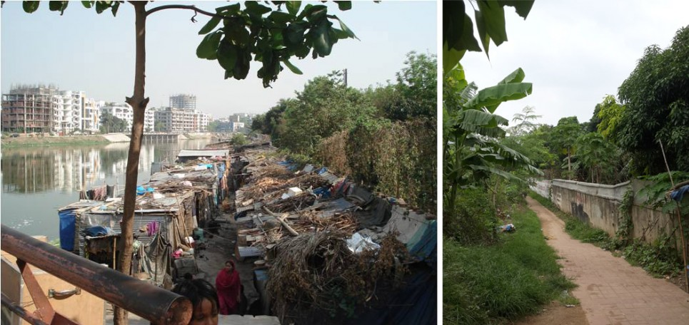 Slum at the end of Road no 11, Banani. Evicted in 2012. Where are they now? | Photo credit:  Author