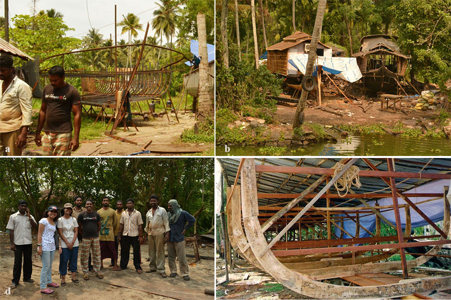 Houseboat building.|Photo credit: Shaswati Chowdhury