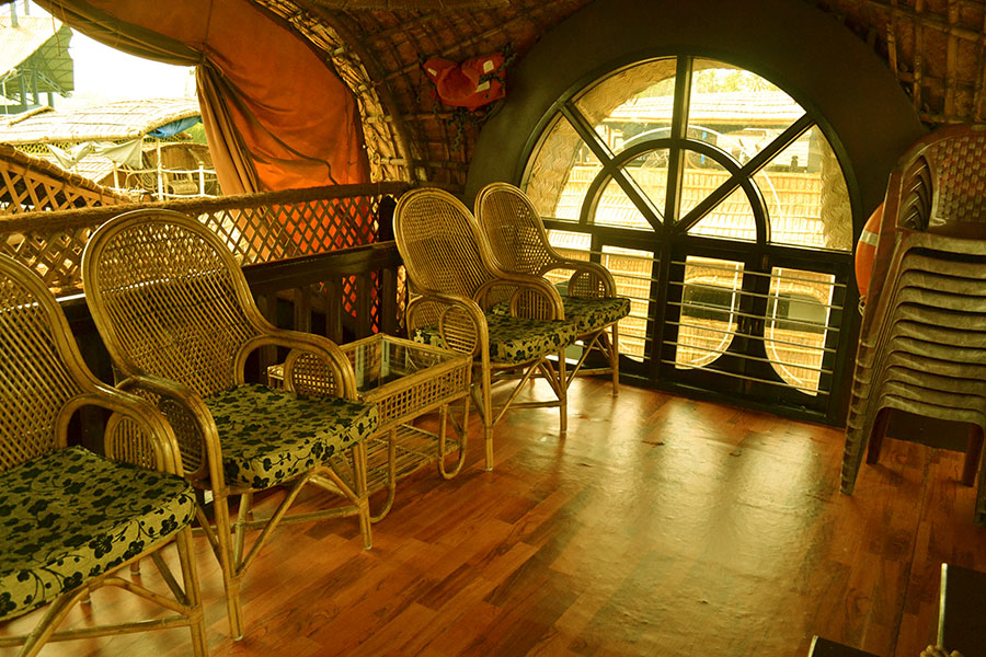 Interior of Kerala house boat|  Photo credit: Shaswati Chowdhury