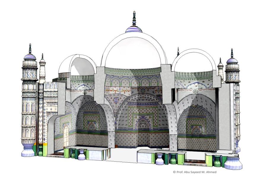 Bazra masjid interior | © Prof. Abu Sayeed M. Ahmed