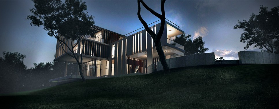 Night view  ( visualization-viewport)   © Cubeinside Design Limited