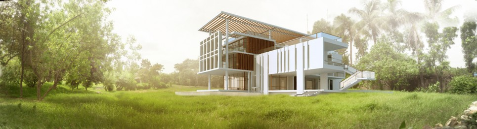 View from south-west  (visualization-viewport)   © Cubeinside Design Limited