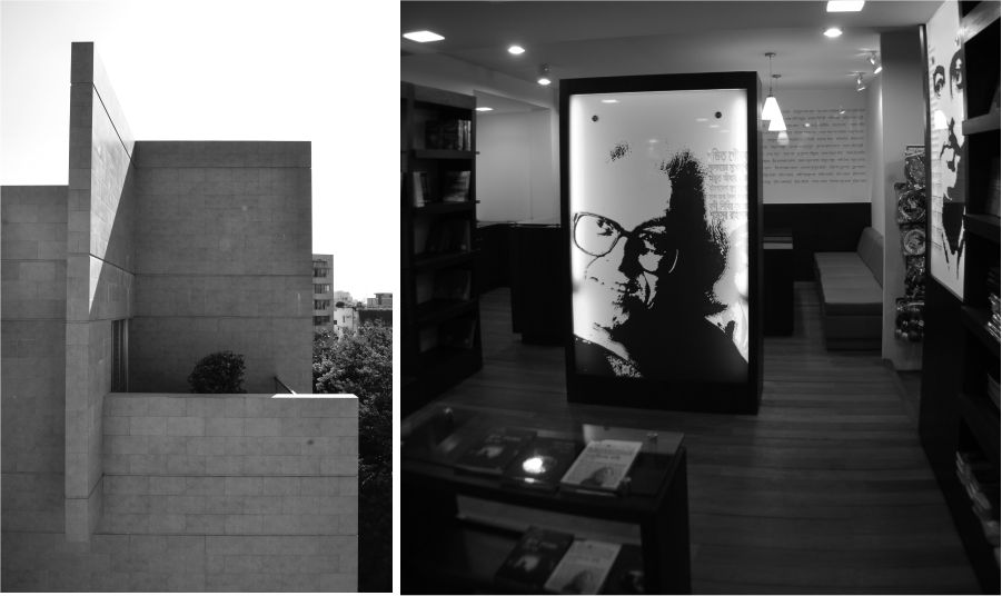 NC Residence at Gulshan (left), a book store at Shantinagar (right) designed by DWM4 Architects. Photo Courtesy: DWM4 Architects