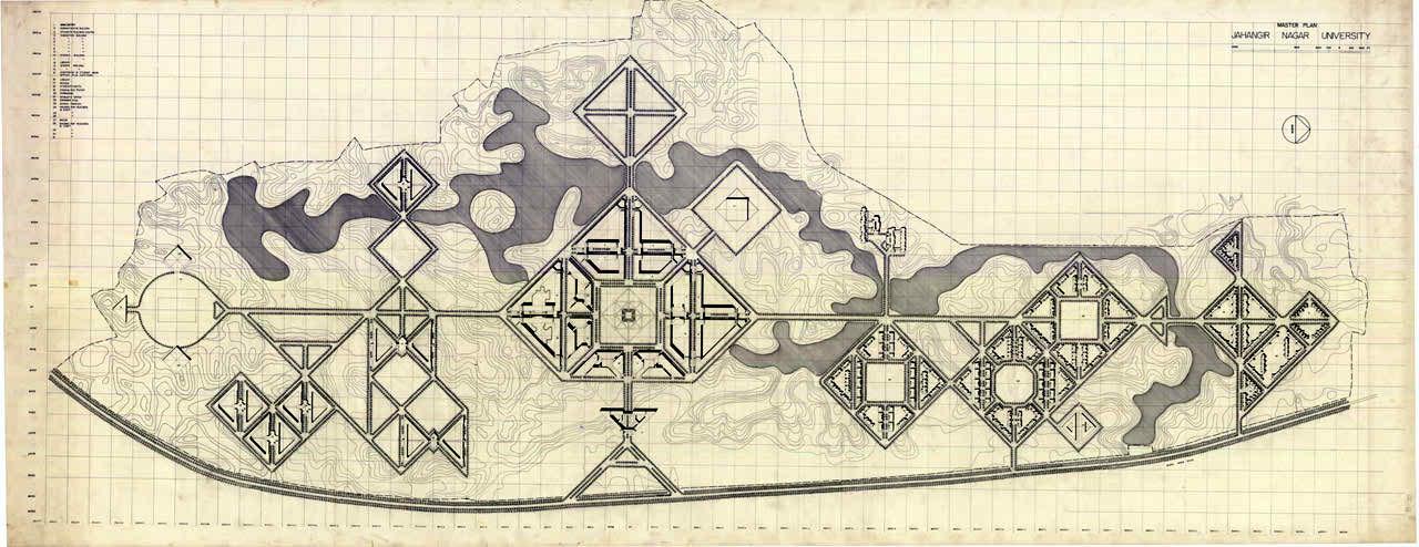 Jahangir Nagar University Master plan (1968-71)