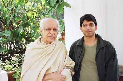 Muzharul Islam with Author