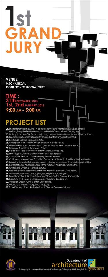 Context BDFirst Thesis Jury | Department Of Architecture , CUET