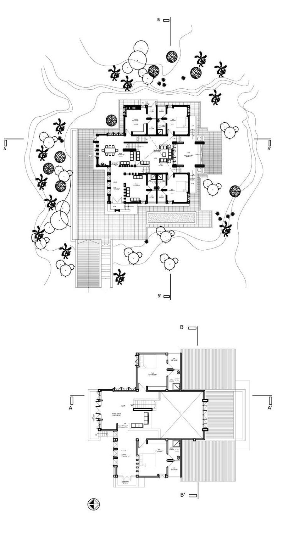 Ground and first Floor Plan © Rajan Das