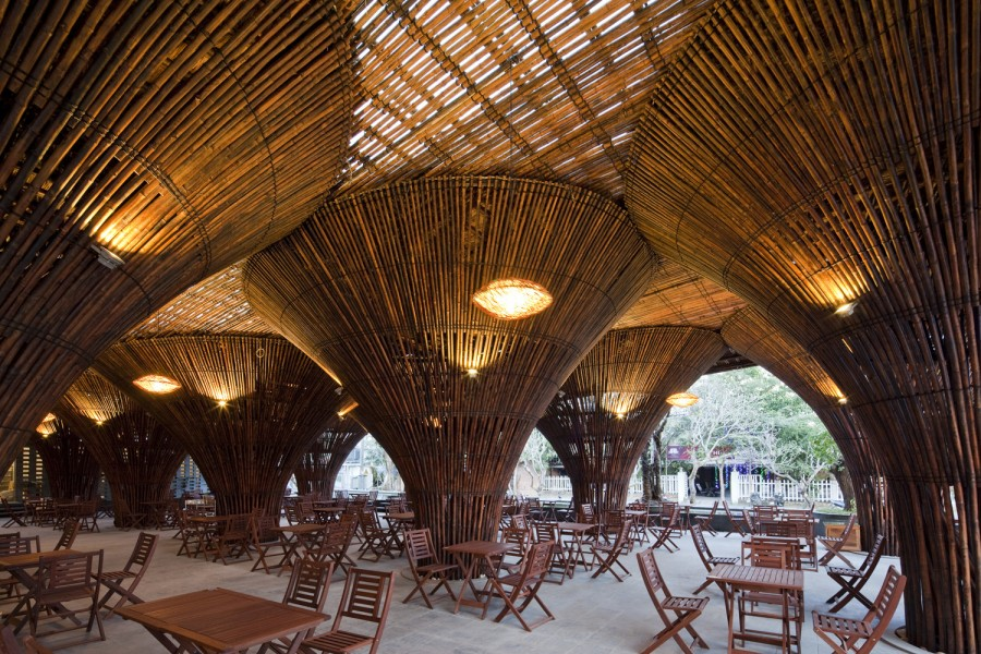 Kontum Indochine Café |© Vo Trong Nghia Architects