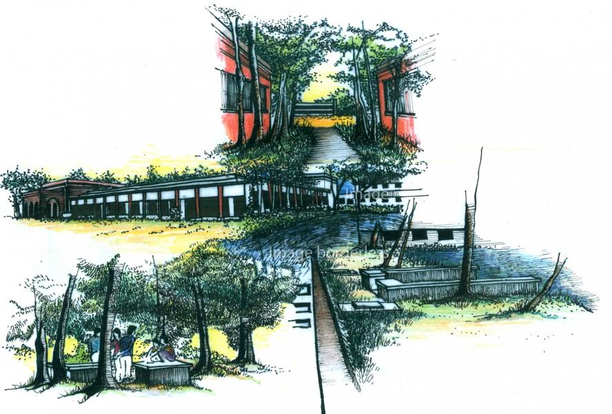 Sketch by : Farasha Zaman