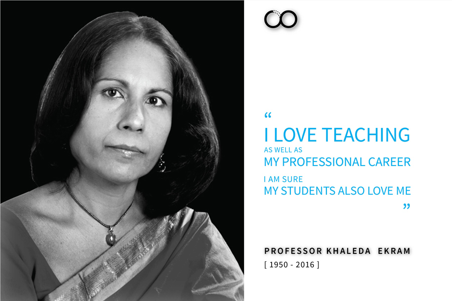Professor khaleda Ekram. Poster by CONTEXT, Image collected from dailystar.net