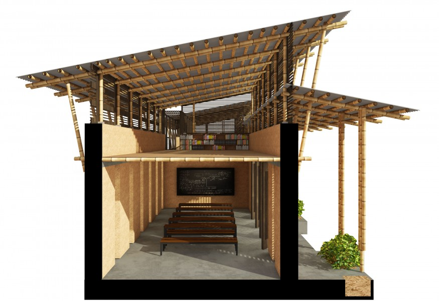 SECTION _ Designing a School for Ghana [ Classroom ] by ARCHISAN