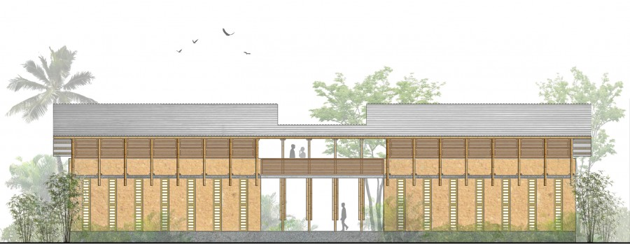 BACK ELEVATION _ Designing a School for Ghana [ Classroom ] by ARCHISAN