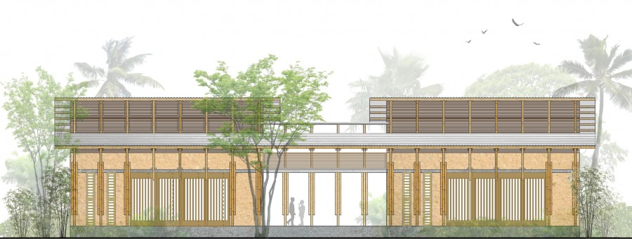 FRONT ELEVATION _ Designing a School for Ghana [ Classroom ] by ARCHISAN