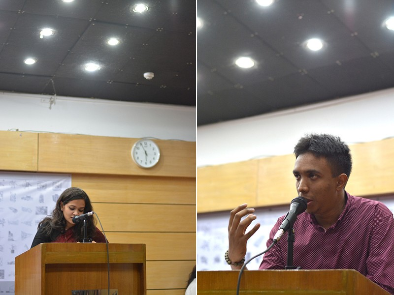 Speech by Ar. Farasha Zaman and Kazi Najeeb Hassan, vote of thanks on behalf of the editorial panel, Folio 1 | Photo Credit: Nymus Reshad
