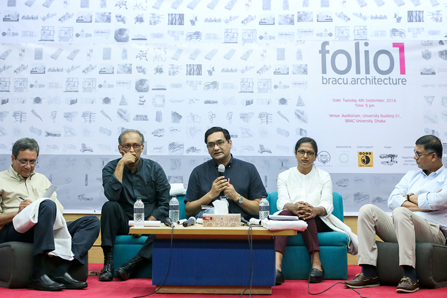 Dr Fuad H. Mallick at the panel discussion on 'Architectural Education for Tomorrow' © bracu.architecture , Photo Credit: Tanzina Binte Harun