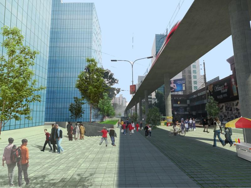 Proposed pedestrian plaza at Kemal Atartuk Avenue