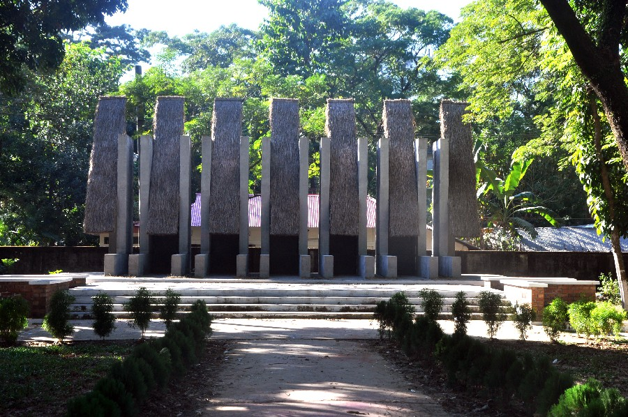 Monument for Martyrs at Tilagor, Sylhet. Image by Iftekher Wahid Iftee