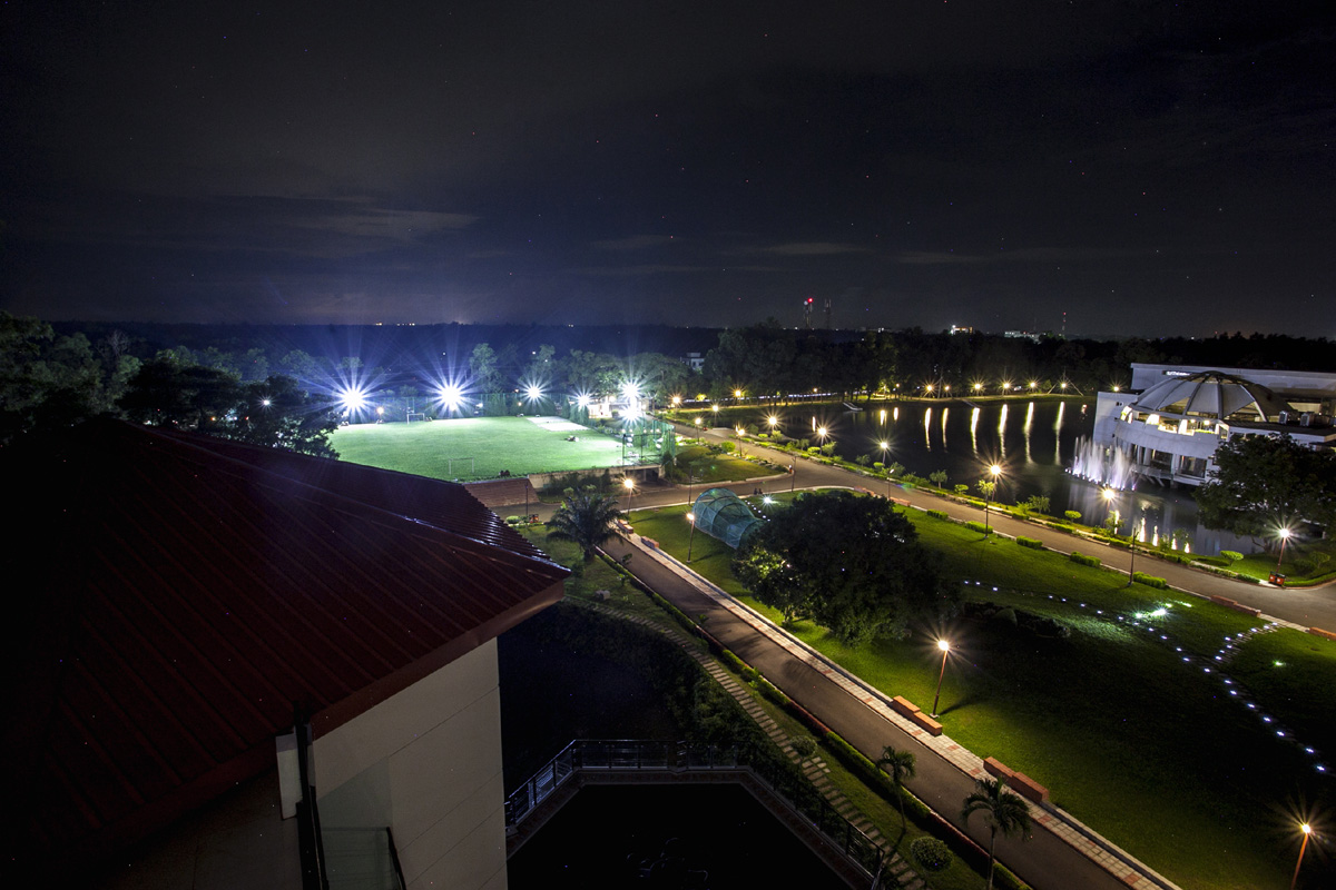 Night view of the compound ,BRAC CDM, Rajendrapur