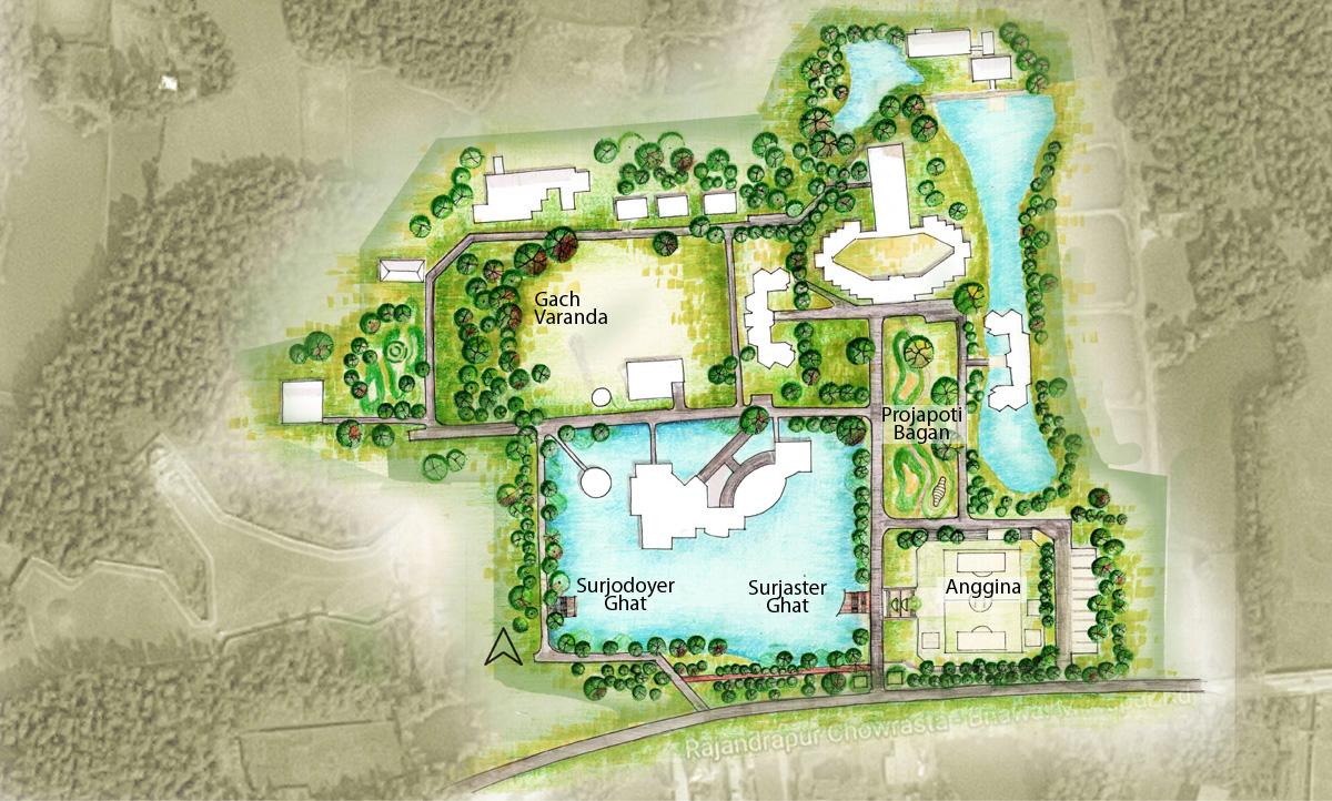 Landscape plan, BRAC -CDM compound, Rajendrapur