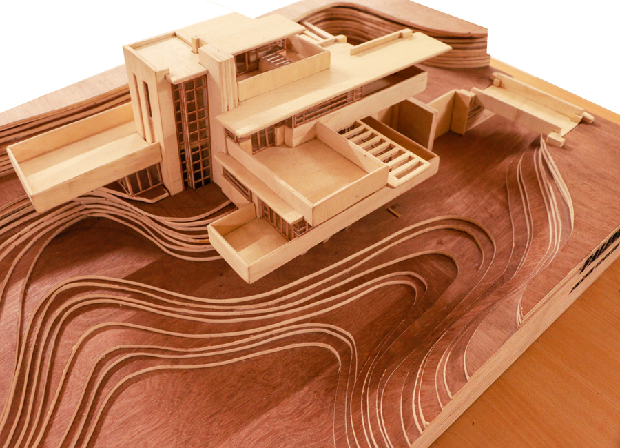 Falling Water; Architect Frank Lloyd Wright | courtesy: Dept of Architecture, HSTU