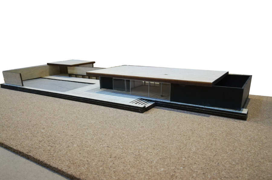 Barcelona Pavilion; Architect: Mies Van Der Rohe | courtesy: Dept of Architecture, AIUB