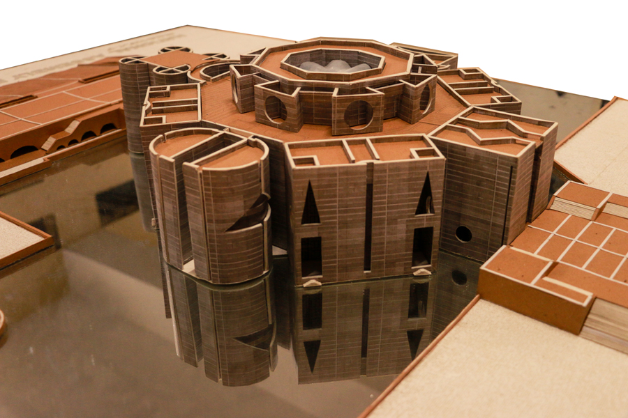 Paper model of National Assembly Building, Dhaka; Architect: Louis I Kahn | courtesy: Dept of Architecture, HSTU
