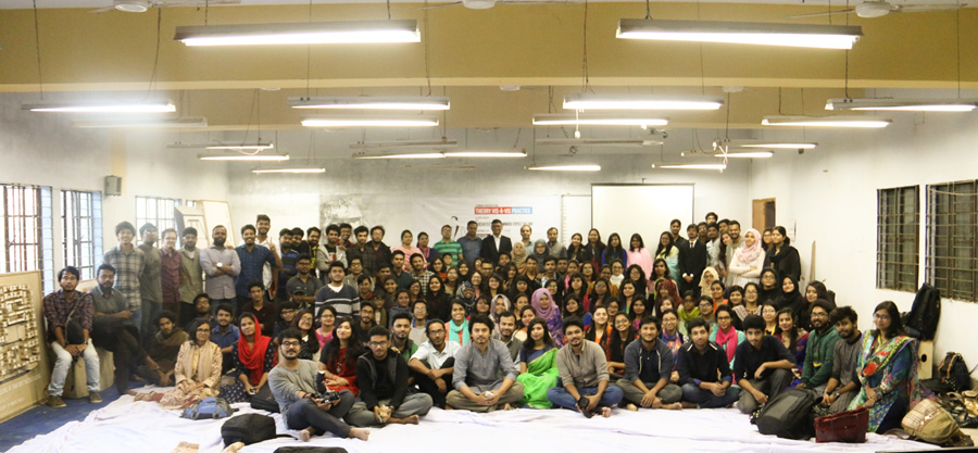 Ar. Foyez Ullah with participants | Photo courtesy: Dept of Architecture , CUET