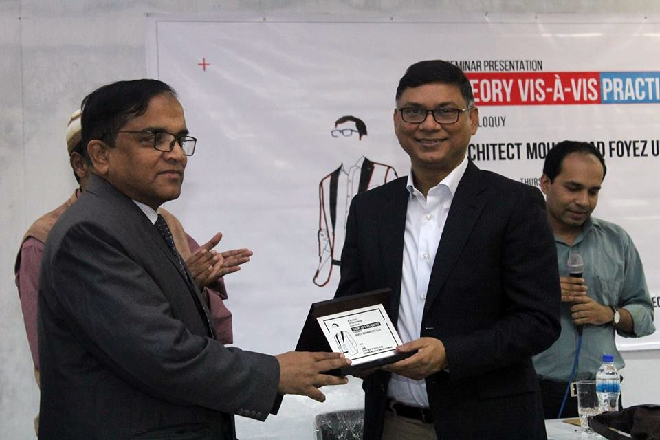 Award receiving from honorable Vice Chancellor of CUET