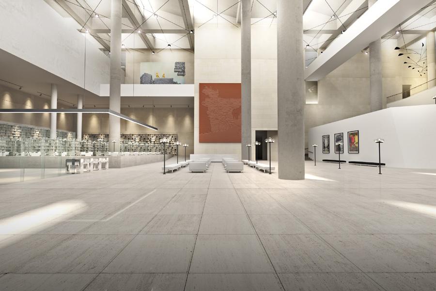 Museum central lobby © DCON CUBE JV