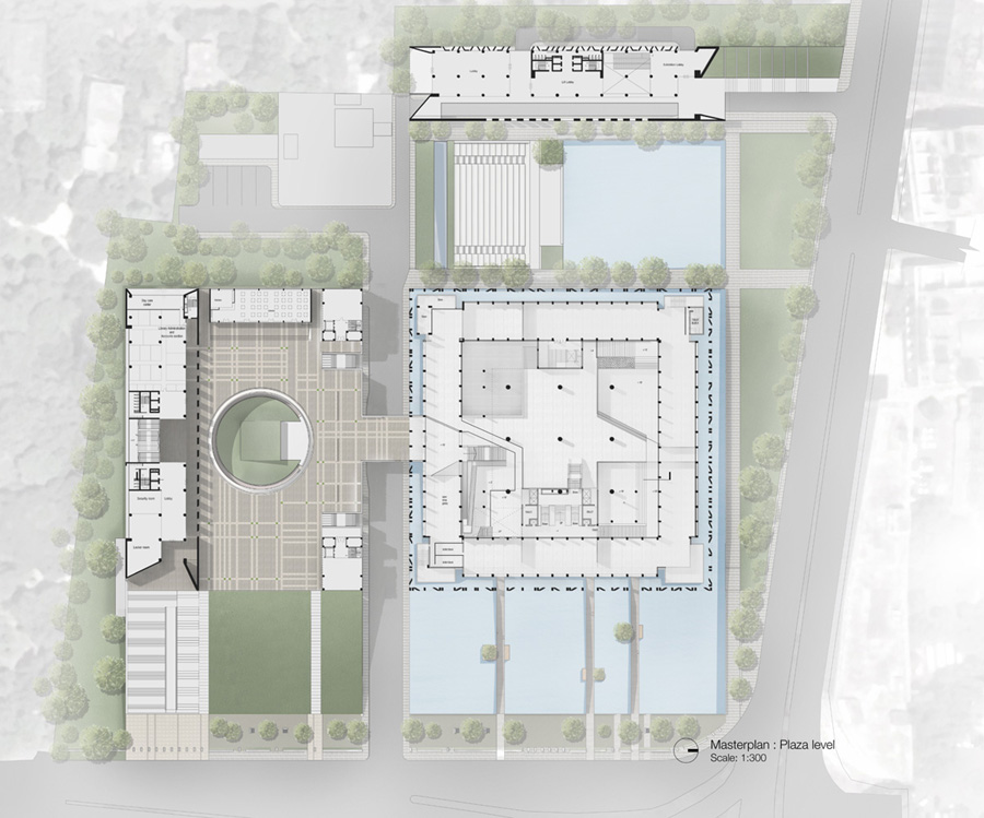 Proposed Masterplan ( at Plaza level) © DCON CUBE JV