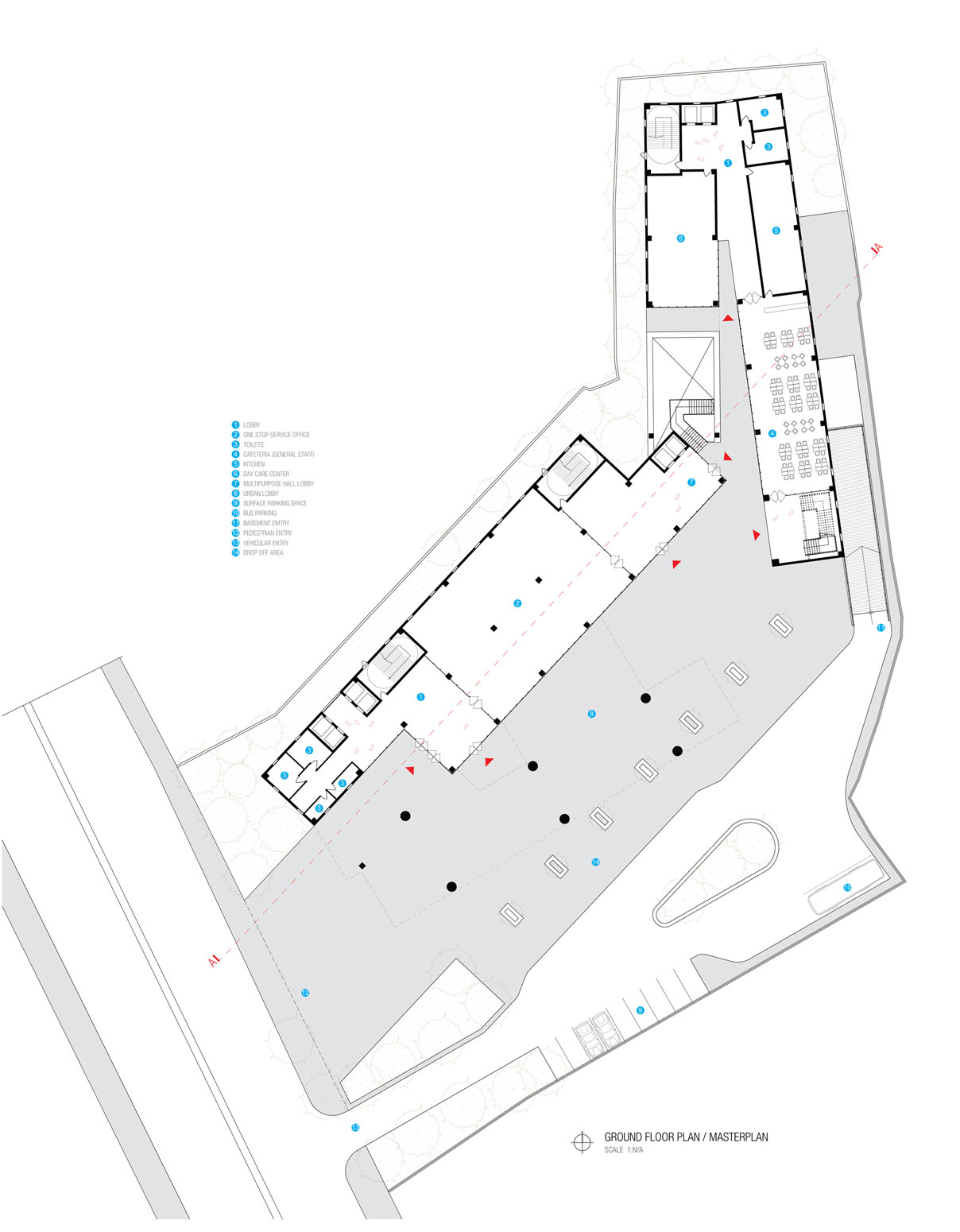 Ground Floor Plan © aakor architecture workshop