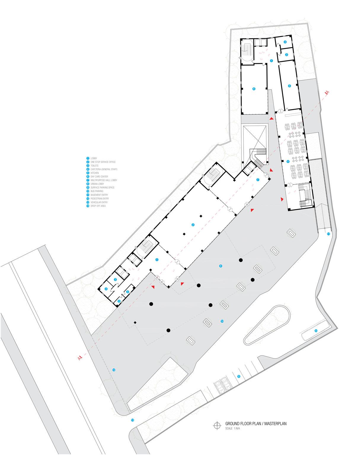 Ground Floor Plan © aakor architecture workshop