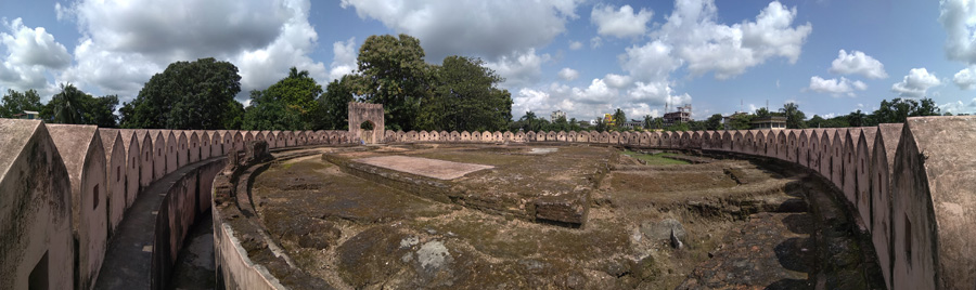 Existing ruins of the circular drum , Idrakpurfort, Munshiganj