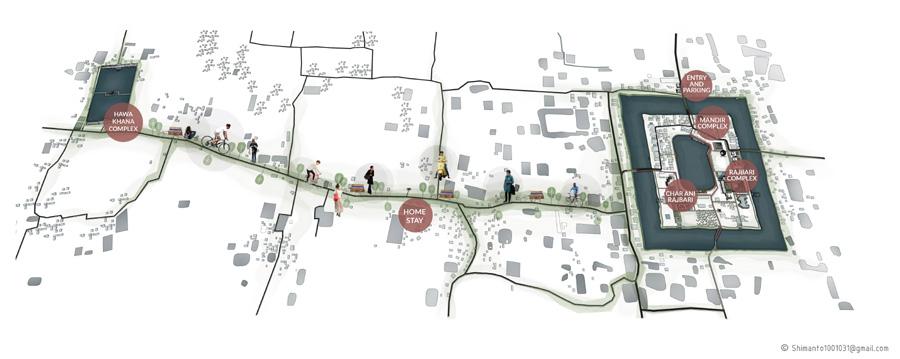 Proposed area masterplan © Shimanto Goswami | BUET