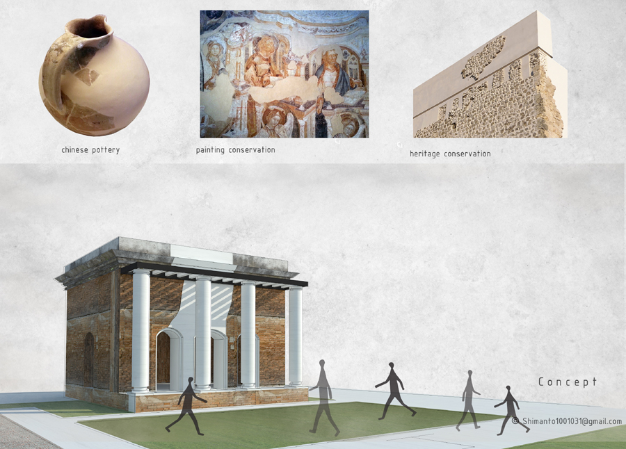Heritage conservation concept © Shimanto Goswami | BUET