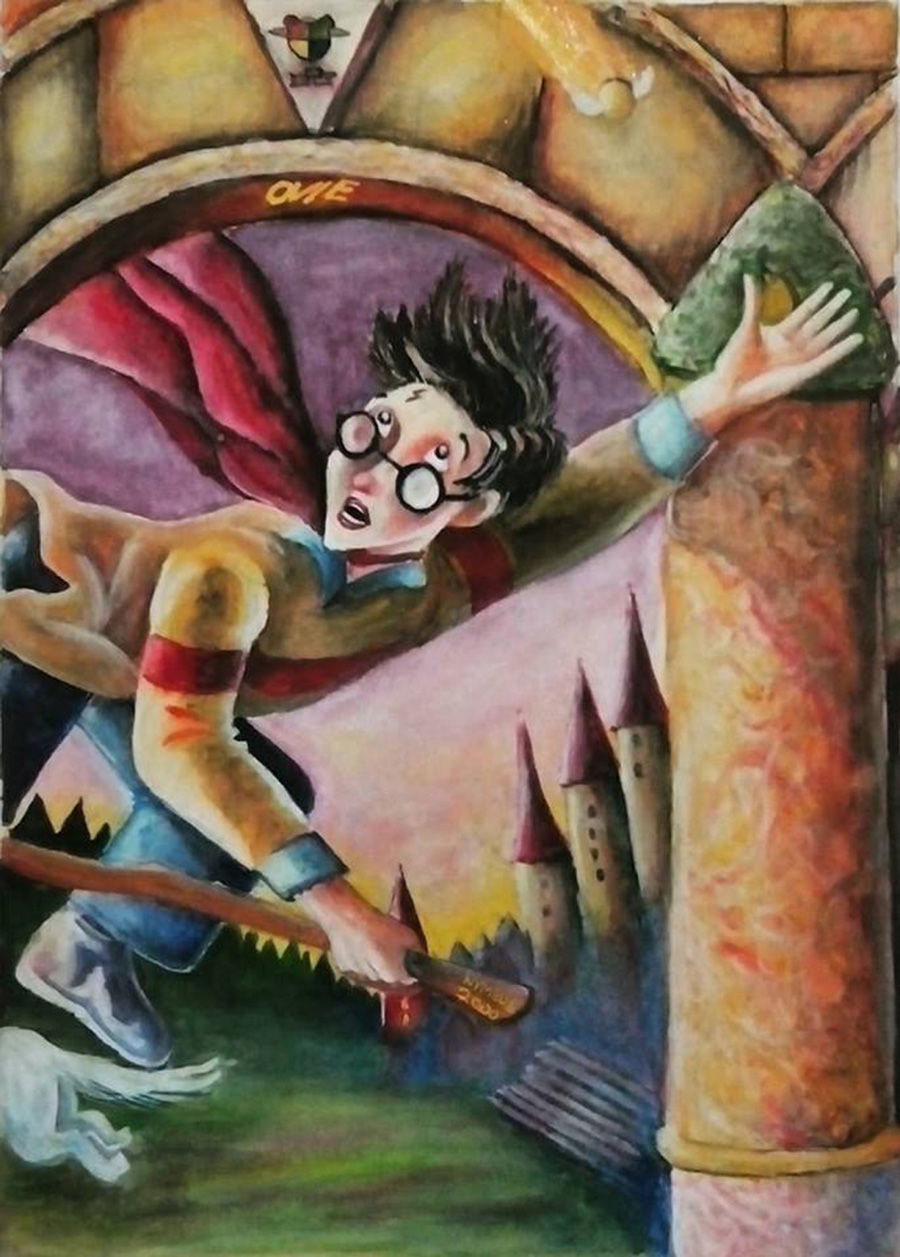 Harry Potter | media: water colour © Ovi