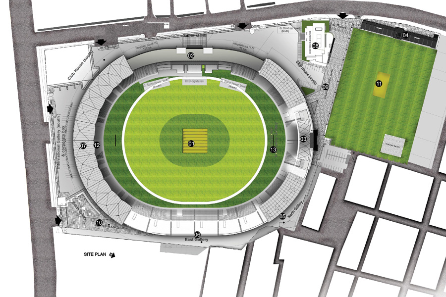 Master plan, Sher- e- Bangla Cricket Stadium © Bashat Architects Engineers Ltd.