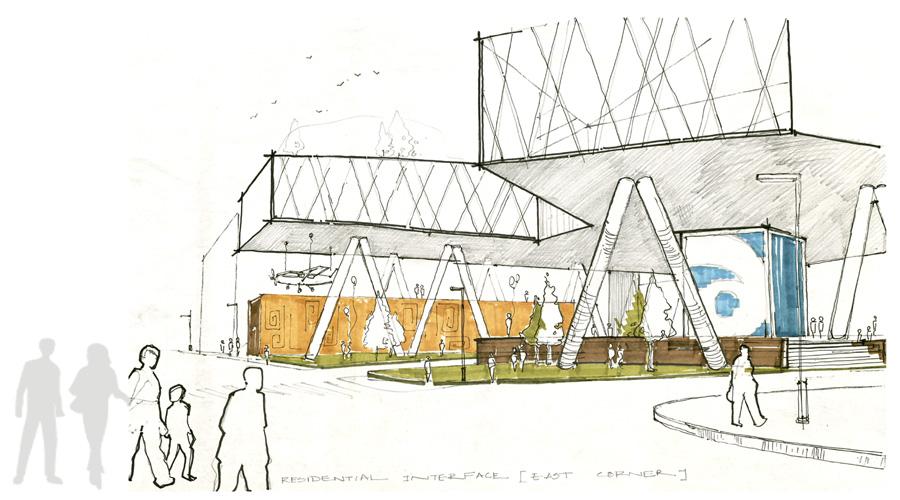 Conceptual sketch  AMAZON Headquarters at St. Louis © Md Abdul Kader
