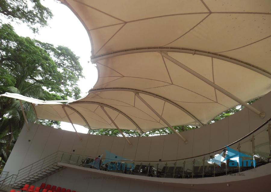 Canopy over Bangladesh Gallery, Benapole, Jessore © ALM Tensile Membrane Structure Ltd