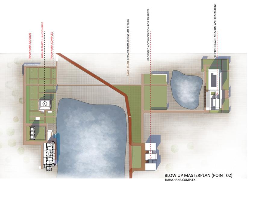 Proposed Plan for Tahakhan Complex Precinct © Asif Zaman   AIUB