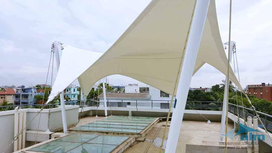 Roof top canopy, Residence at Nikunja © ALM Tensile Membrane Structure Ltd