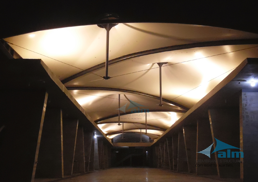 Canopy over market hall, Village Super Market, Khulna © ALM Tensile Membrane Structure Ltd