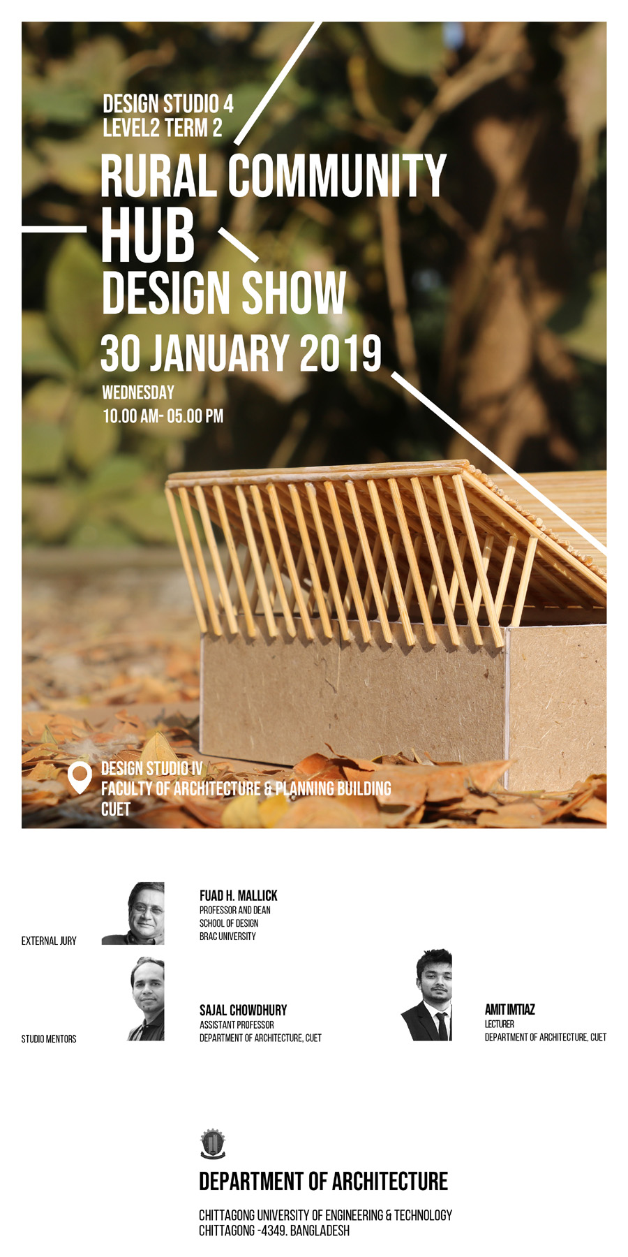 Rural Community Hub Design Show 2019 | courtesy: Dept of Architecture, CUET