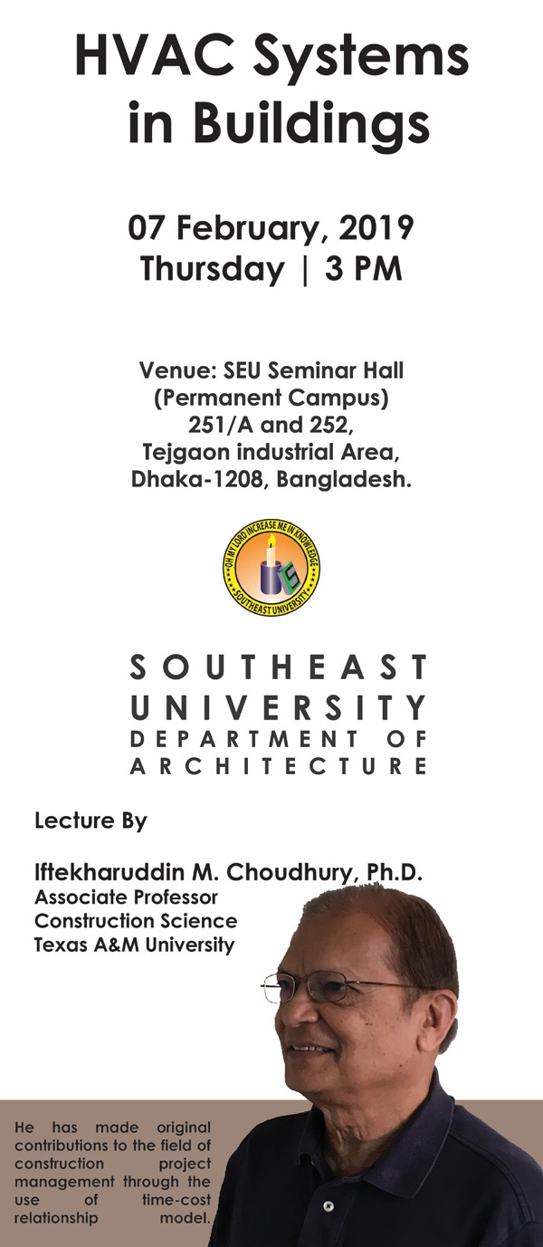 Courtesy: Dept of Architecture, South-East University