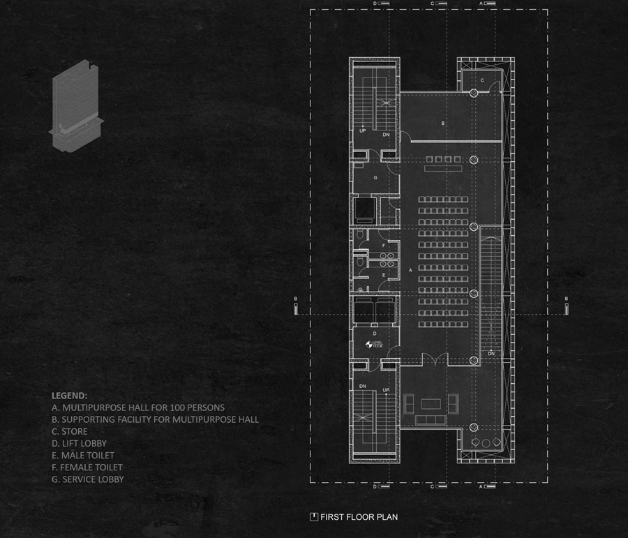 First floor plan © Studio Morphogenesis Ltd.