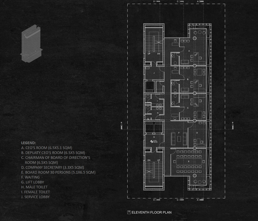 Eleventh floor plan © Studio Morphogenesis Ltd.