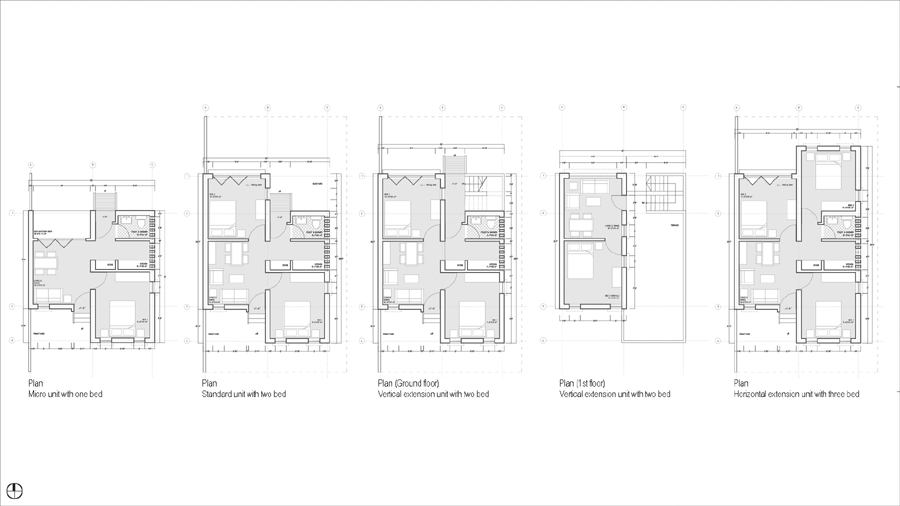 Plans of dwelling prototype © Design Team
