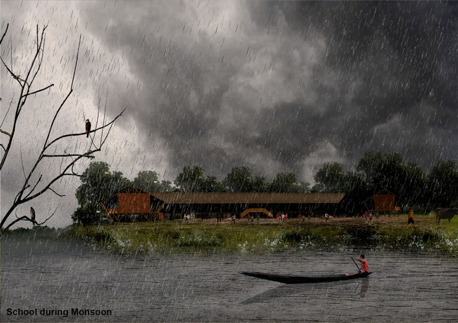 Community school (monsoon season) © Sampad Khalifa